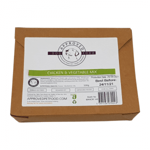 Approved Raw Dog Food Company Chicken and Vegetable Mix
